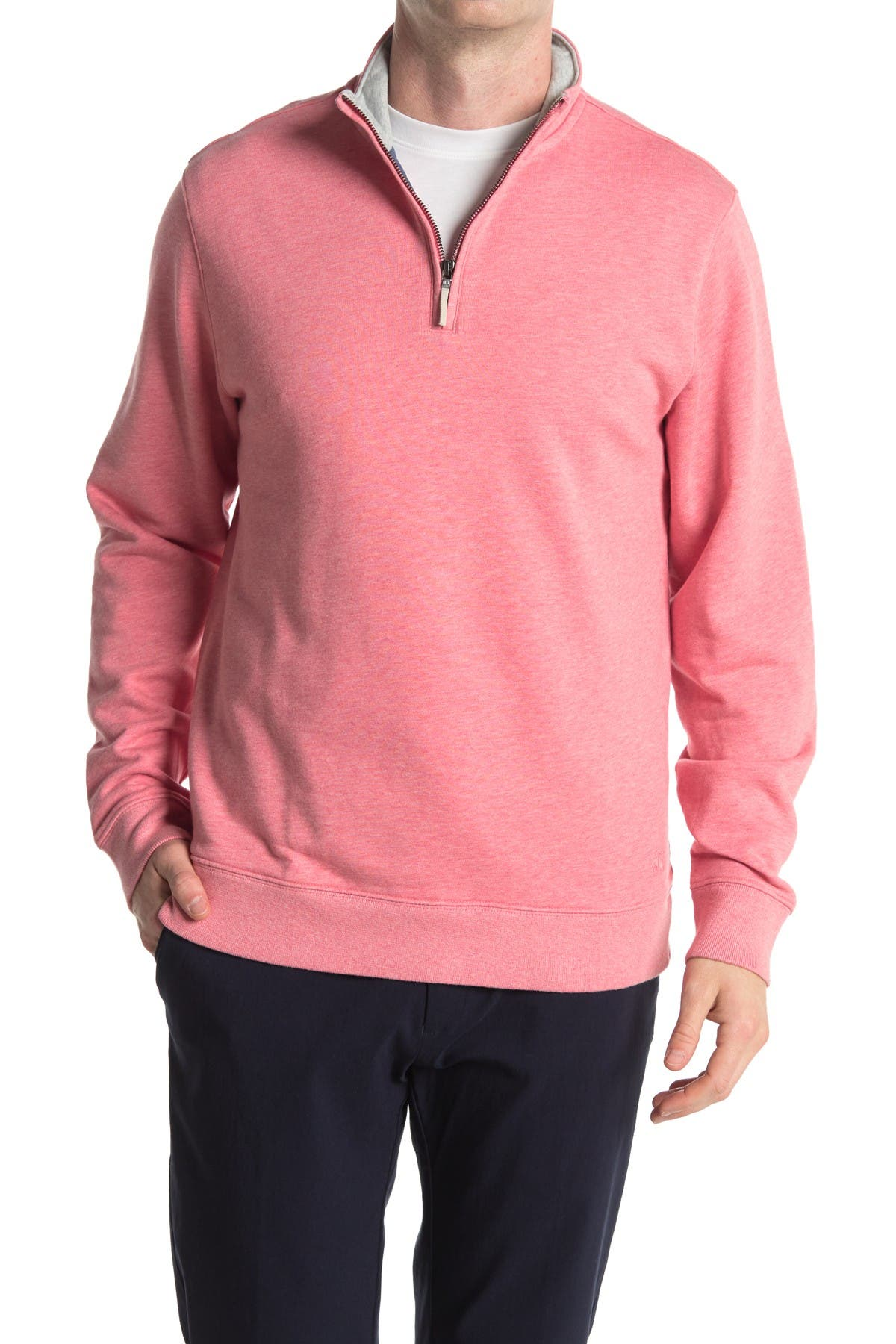 Image of Brooks Brothers Terry Knit Half Zip Sweater