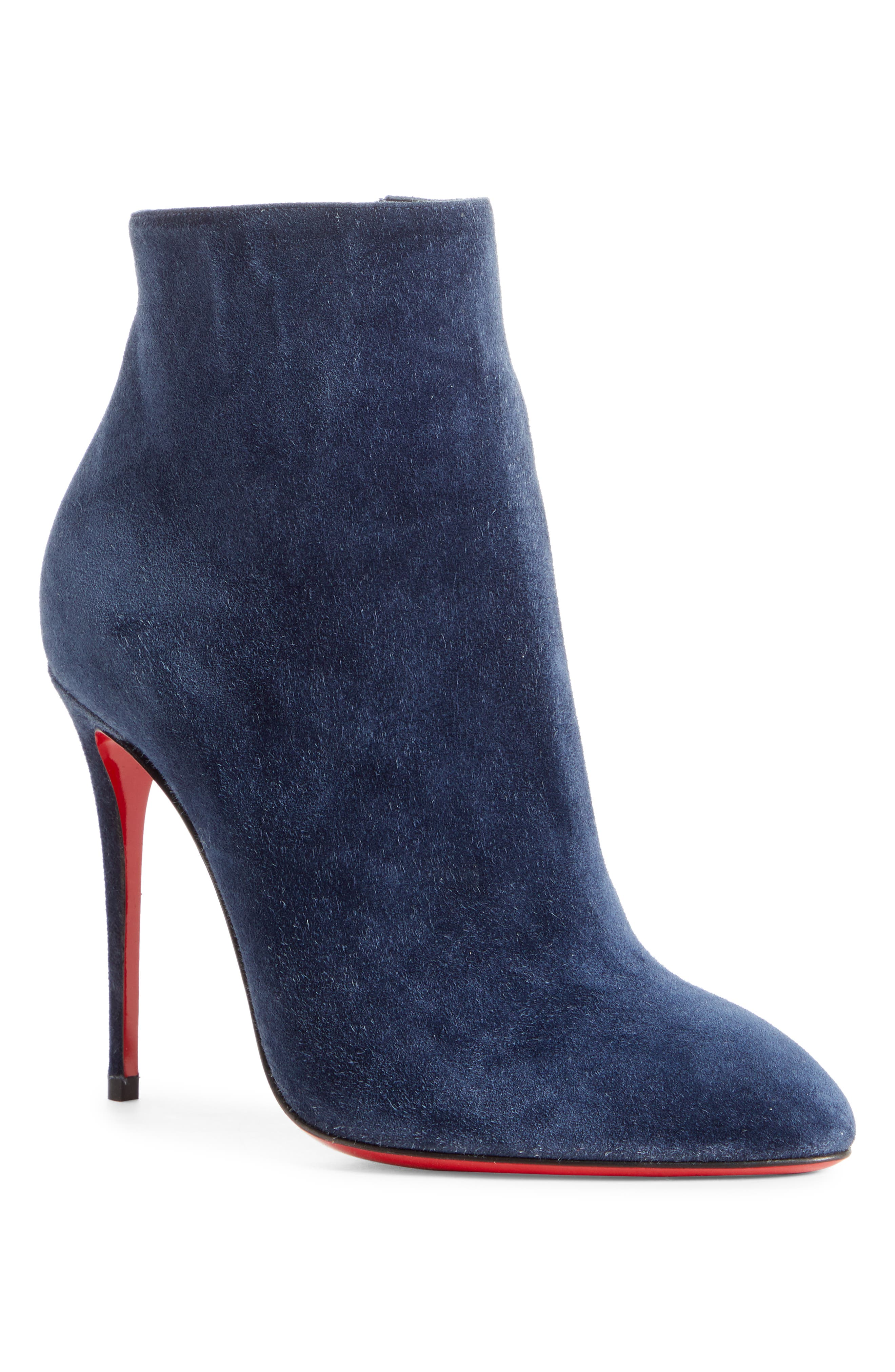 Christian Louboutin Eloise Pointy Toe Bootie, Blue