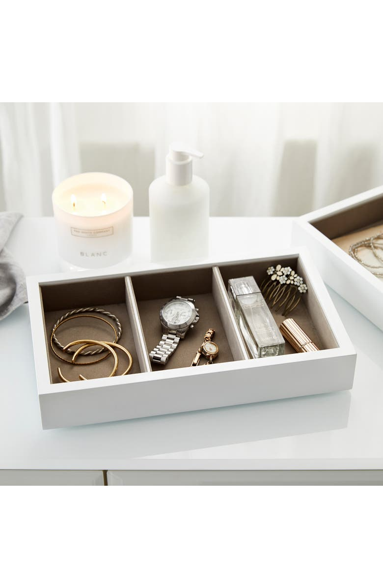 THE WHITE COMPANY White Lacquer Compartment Tray, Main, color, 100