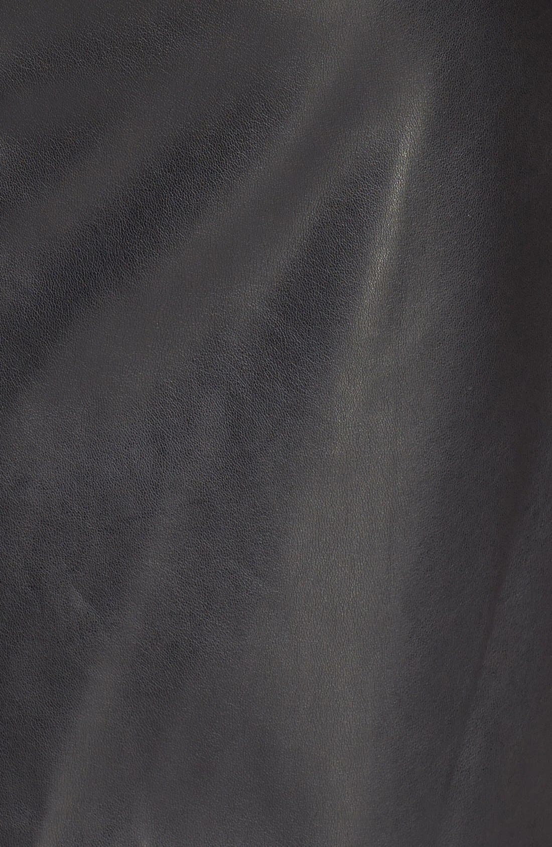 ,                             Faux Leather Skirt,                             Alternate thumbnail 2, color,                             001