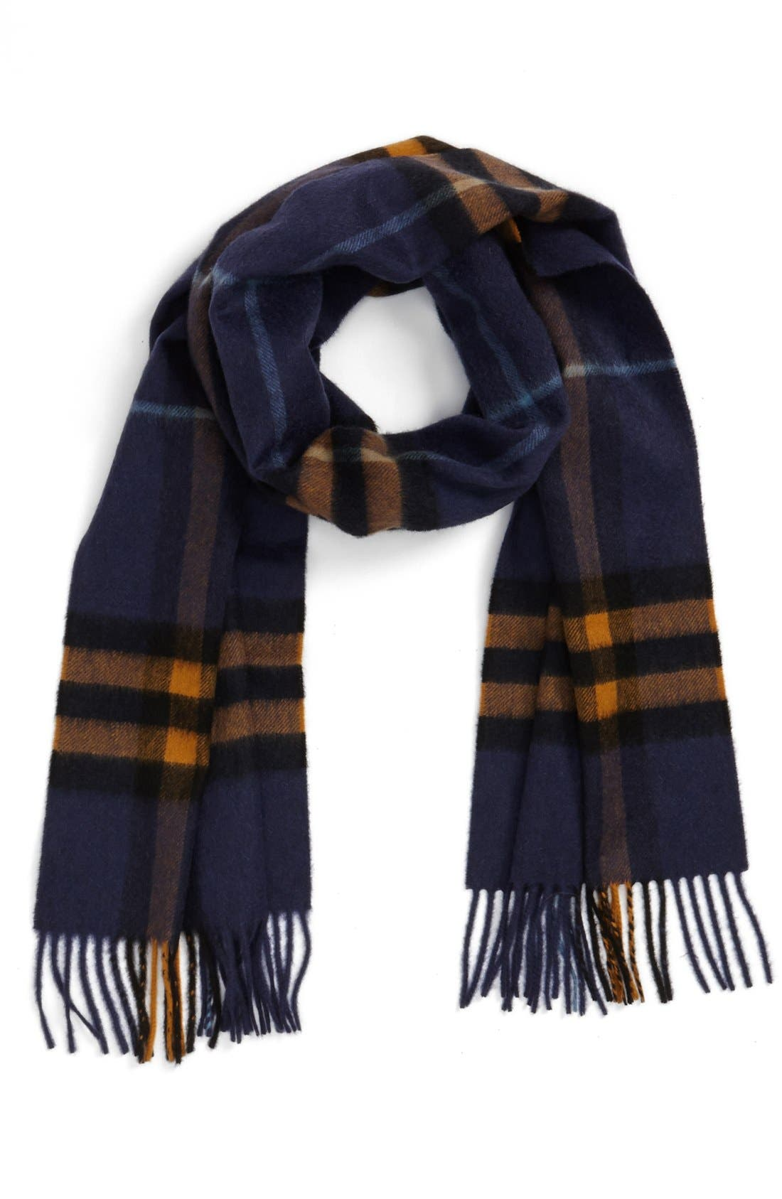 ,                             Heritage Check Cashmere Scarf,                             Main thumbnail 30, color,                             412
