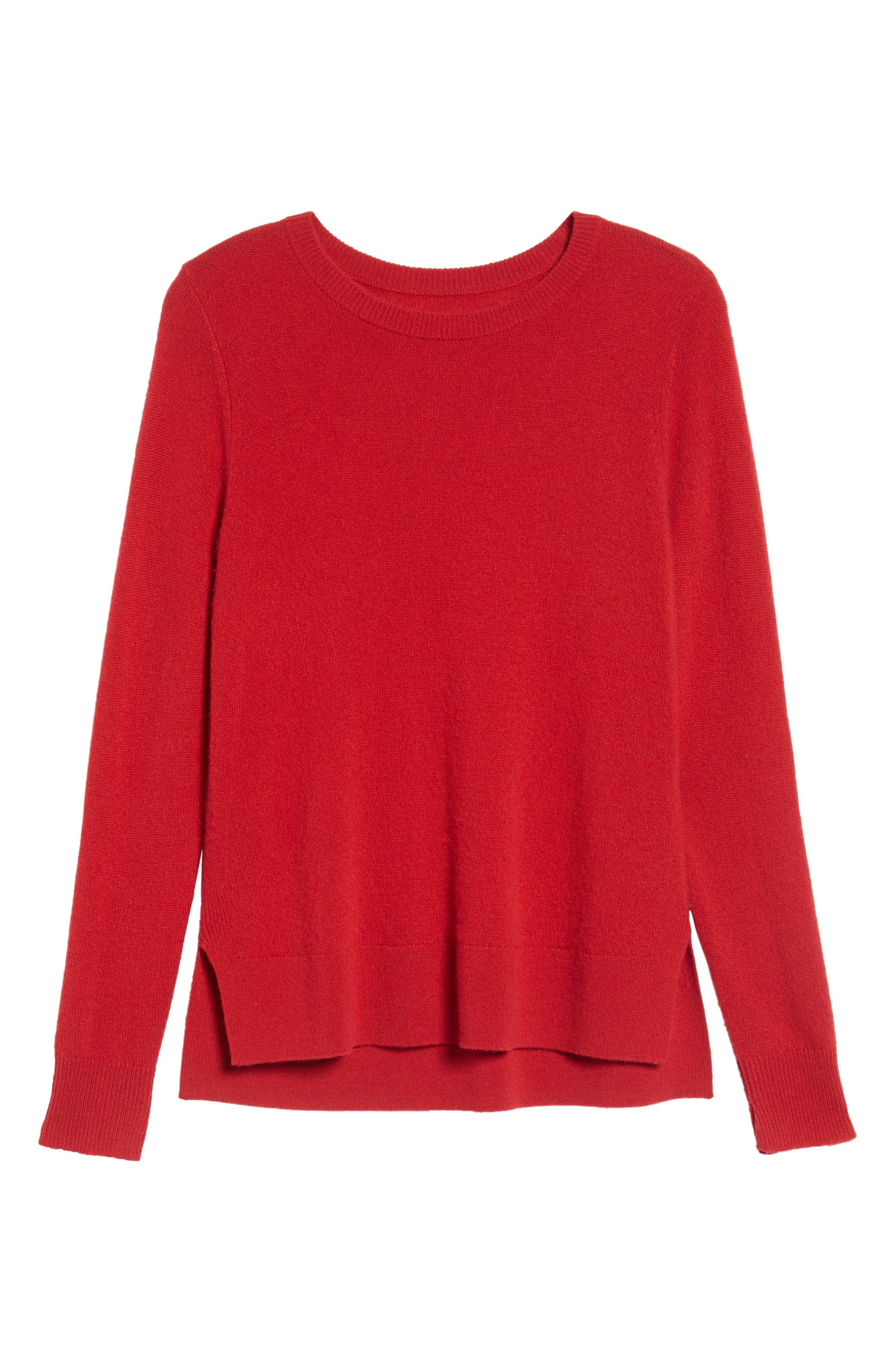 ,                             Crewneck Cashmere Sweater,                             Alternate thumbnail 139, color,                             600