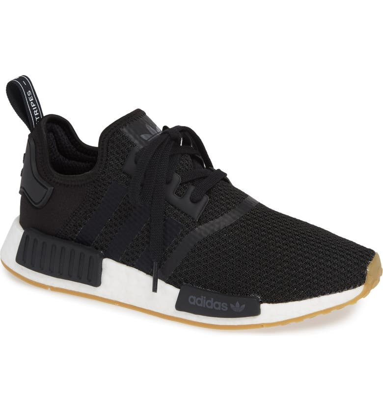 ADIDAS Originals NMD R1 Sneaker, Main, color, BLACK/ BLACK/ GUM