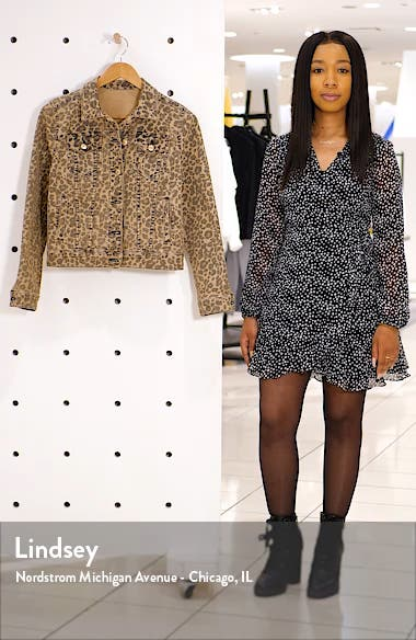 Colbey Leopard Print Denim Jacket, sales video thumbnail