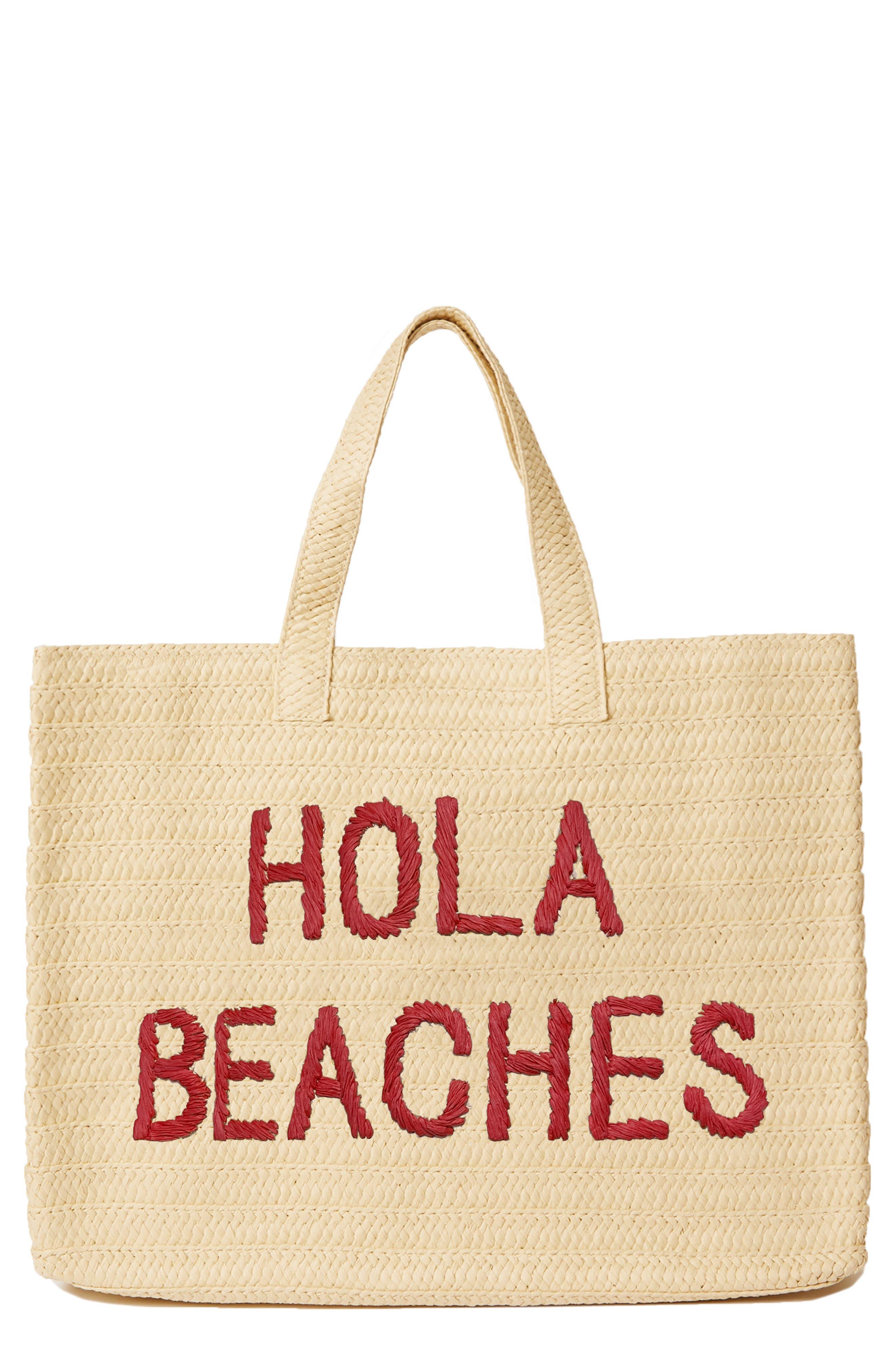 Hola Beaches Straw Tote