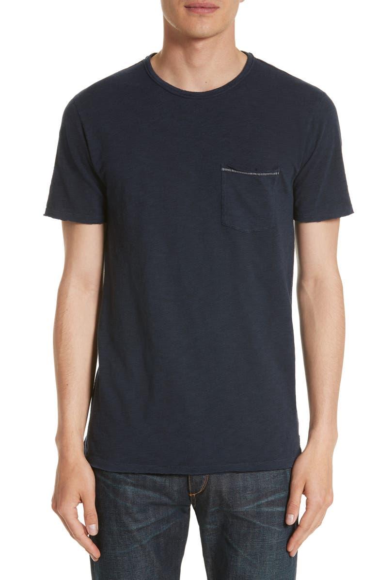 RAG & BONE Owen Slim Fit Pocket T-Shirt, Main, color, 410