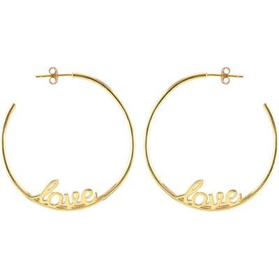 Kris Nations Love Hoop Earrings