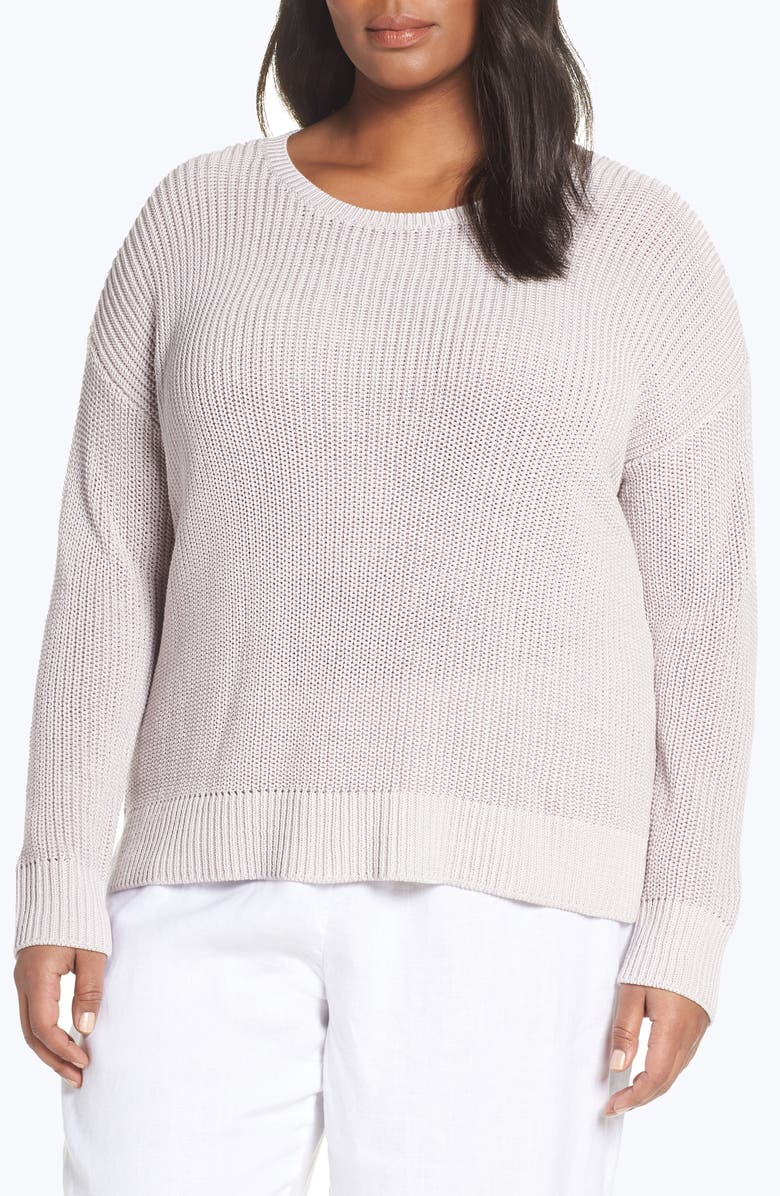 EILEEN FISHER Organic Cotton Sweater, Main, color, 552