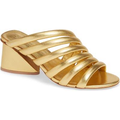 Mercedes Castillo Izzie Slide Sandal- Metallic