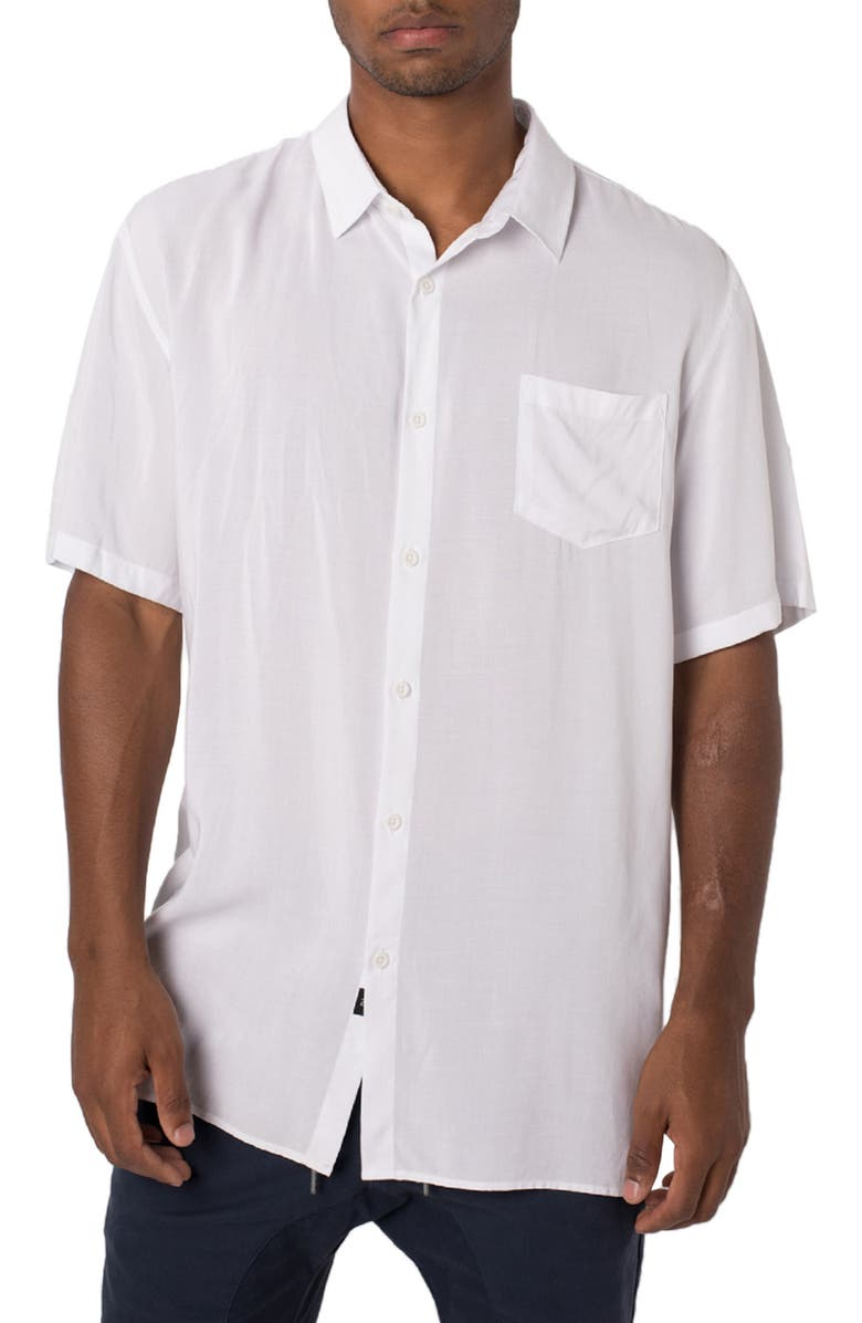 ZANEROBE Solid Short Sleeve Shirt, Main, color, 100
