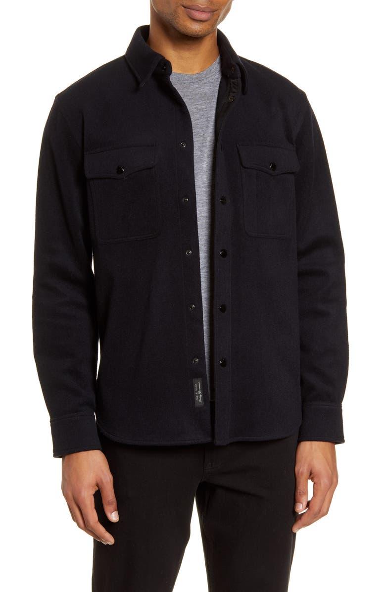 RAG & BONE Jack Slim Fit Wool Blend Shirt Jacket, Main, color, 415