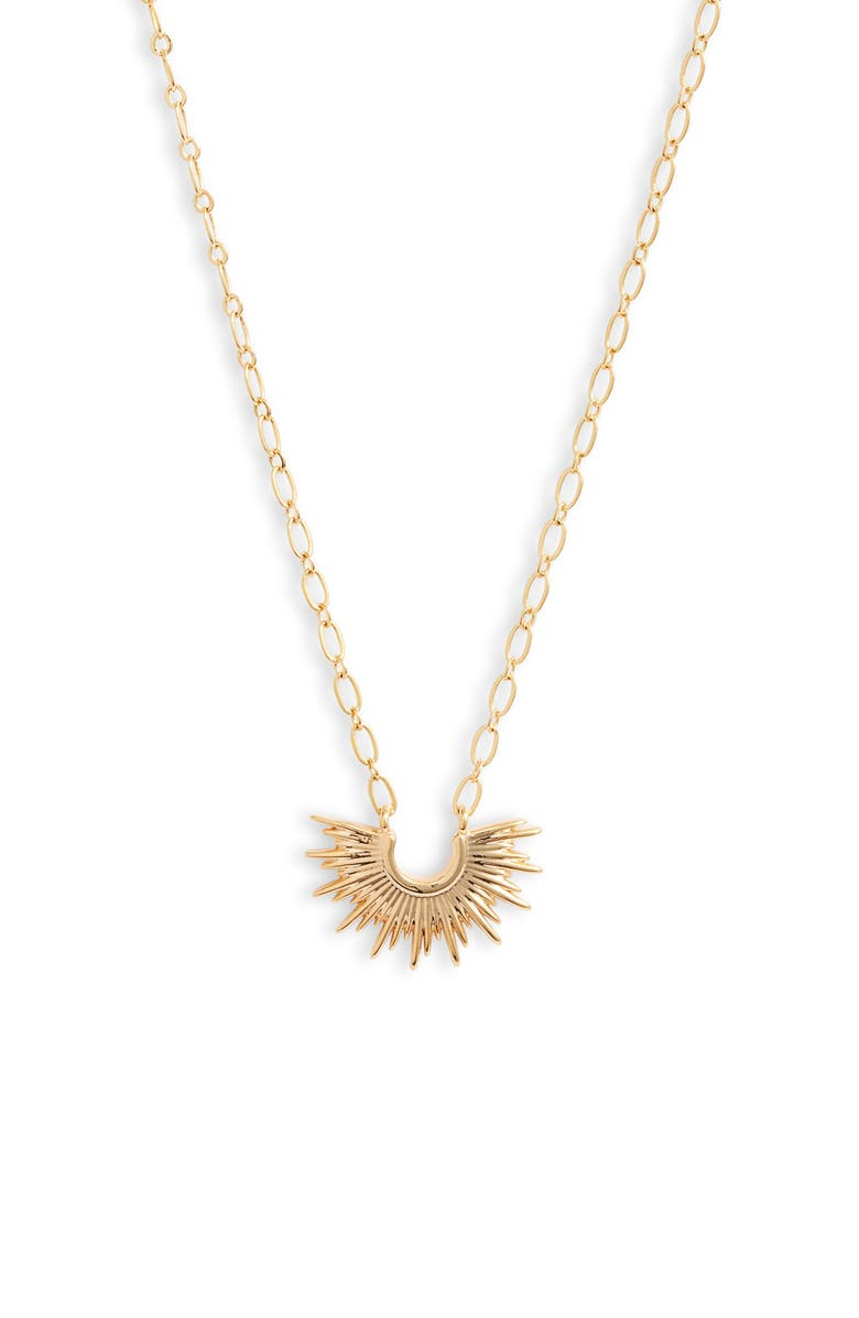 BRACHA Mini Blaze Pendant Necklace, Main, color, GOLD