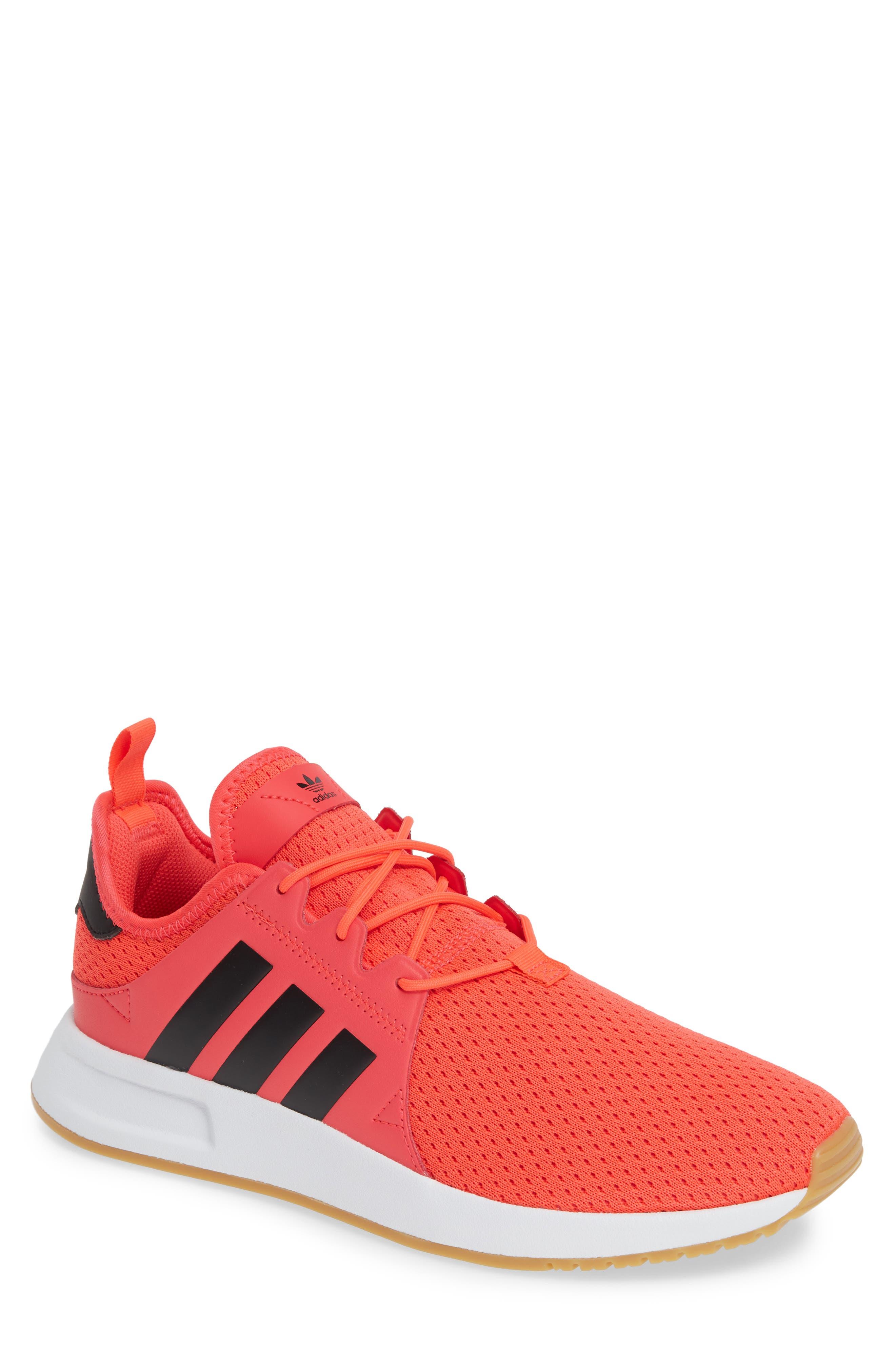 ,                             X_PLR Sneaker,                             Main thumbnail 1, color,                             SHOCK RED/ CORE BLACK/ WHITE