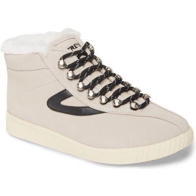 Tretorn Nylite Hi 50 Faux Fur Lined High Top Sneaker- Beige