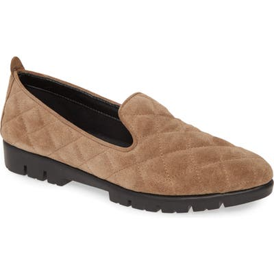 The Flexx Quilt Smoking Loafer, Beige