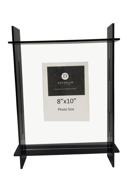 "Image of R16 HOME Black Lucite 8"" x 10"" Frame"