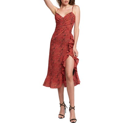 Bardot Lexie Midi Dress, Red