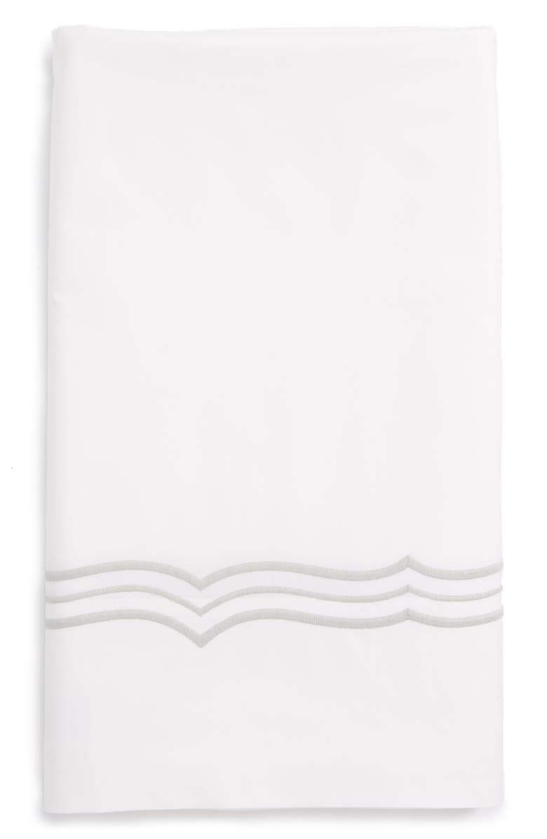 MATOUK Paola 520 Thread Count Flat Sheet, Main, color, SILVER