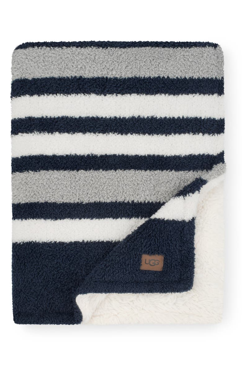 UGG<SUP>®</SUP> Ana Stripe Throw Blanket, Main, color, 400