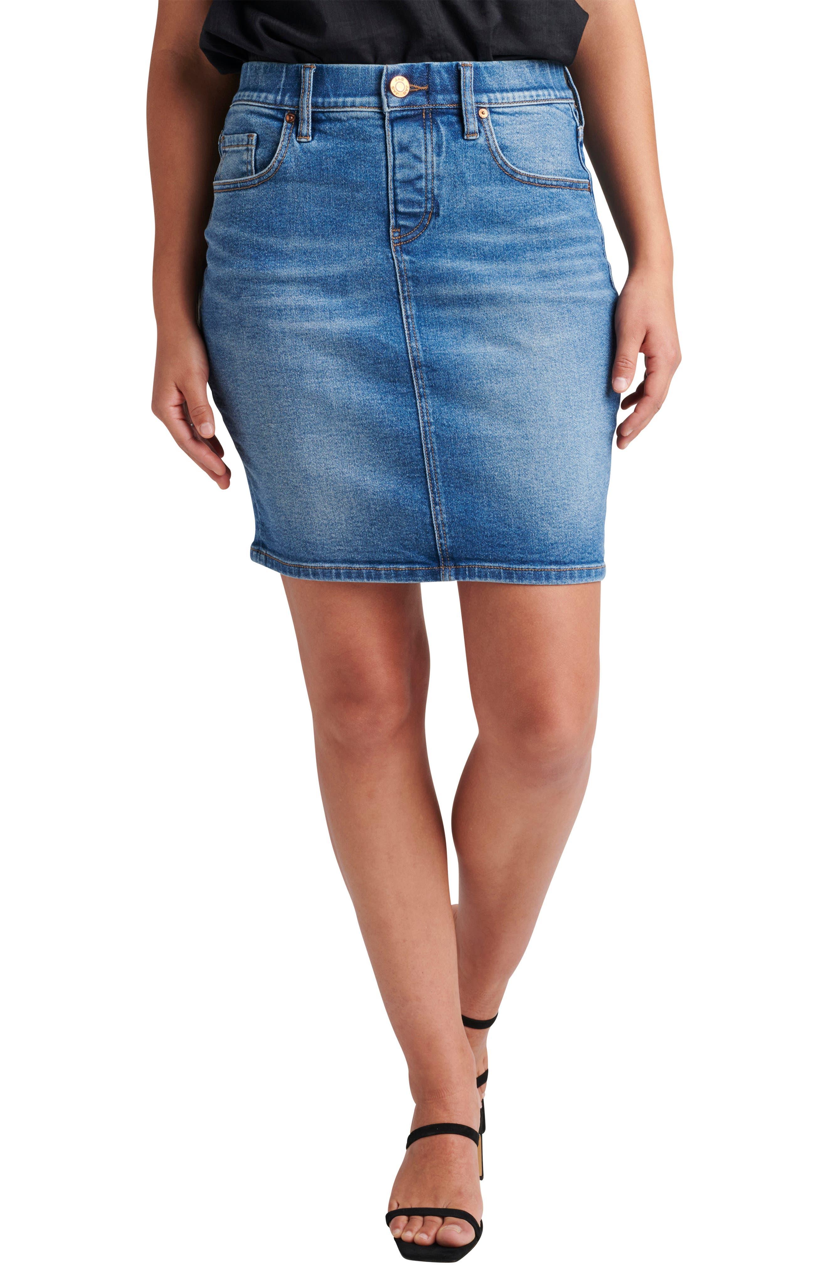Valentine Pull-On Denim Skirt