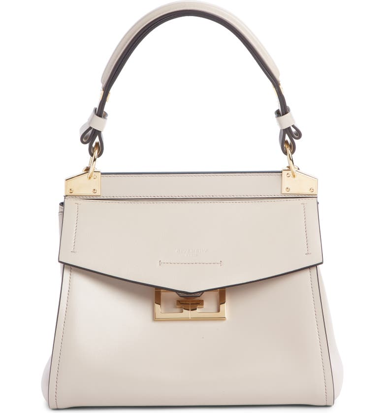 GIVENCHY Small Mystic Leather Satchel, Main, color, NATURAL