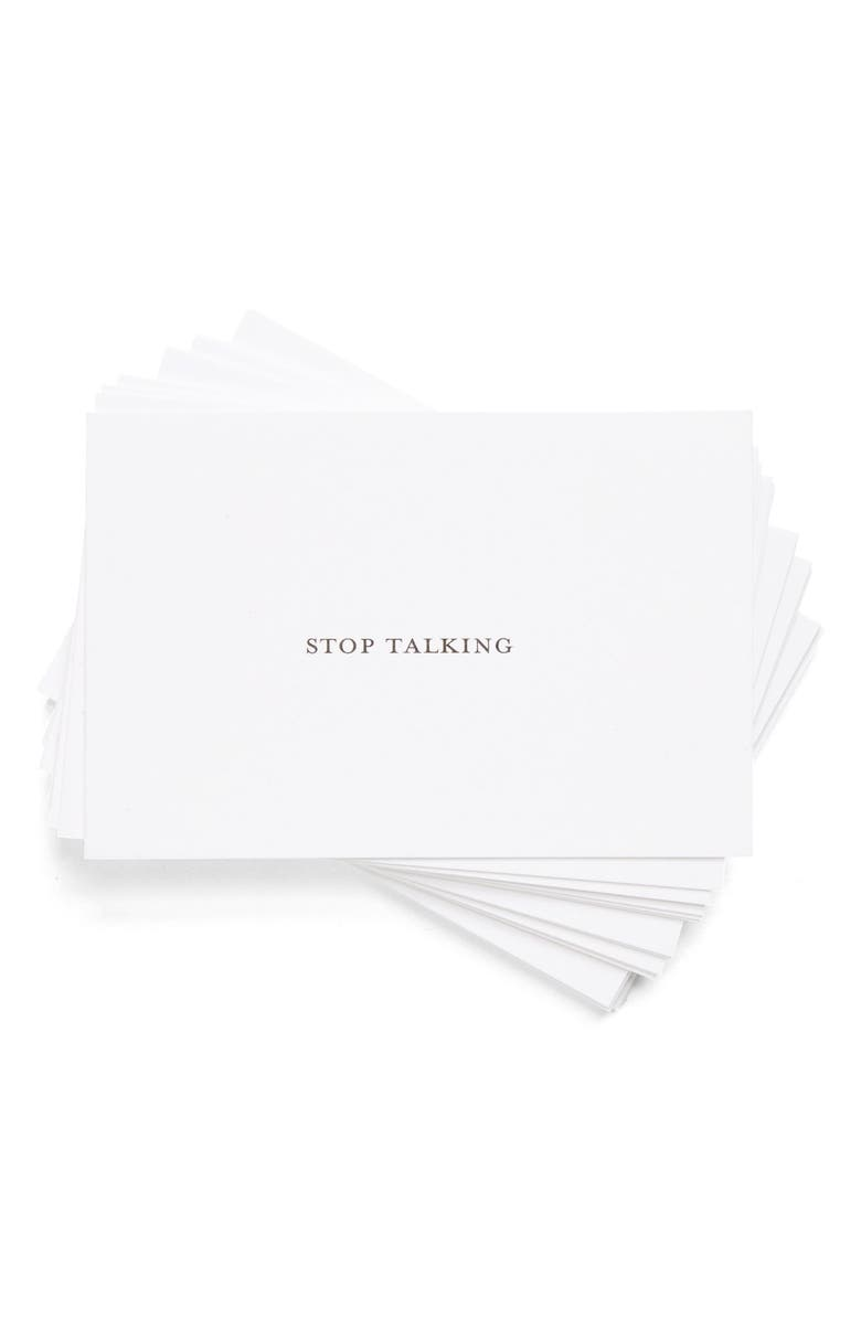 SET EDITIONS 'Stop Talking' Calling Cards, Main, color, 000