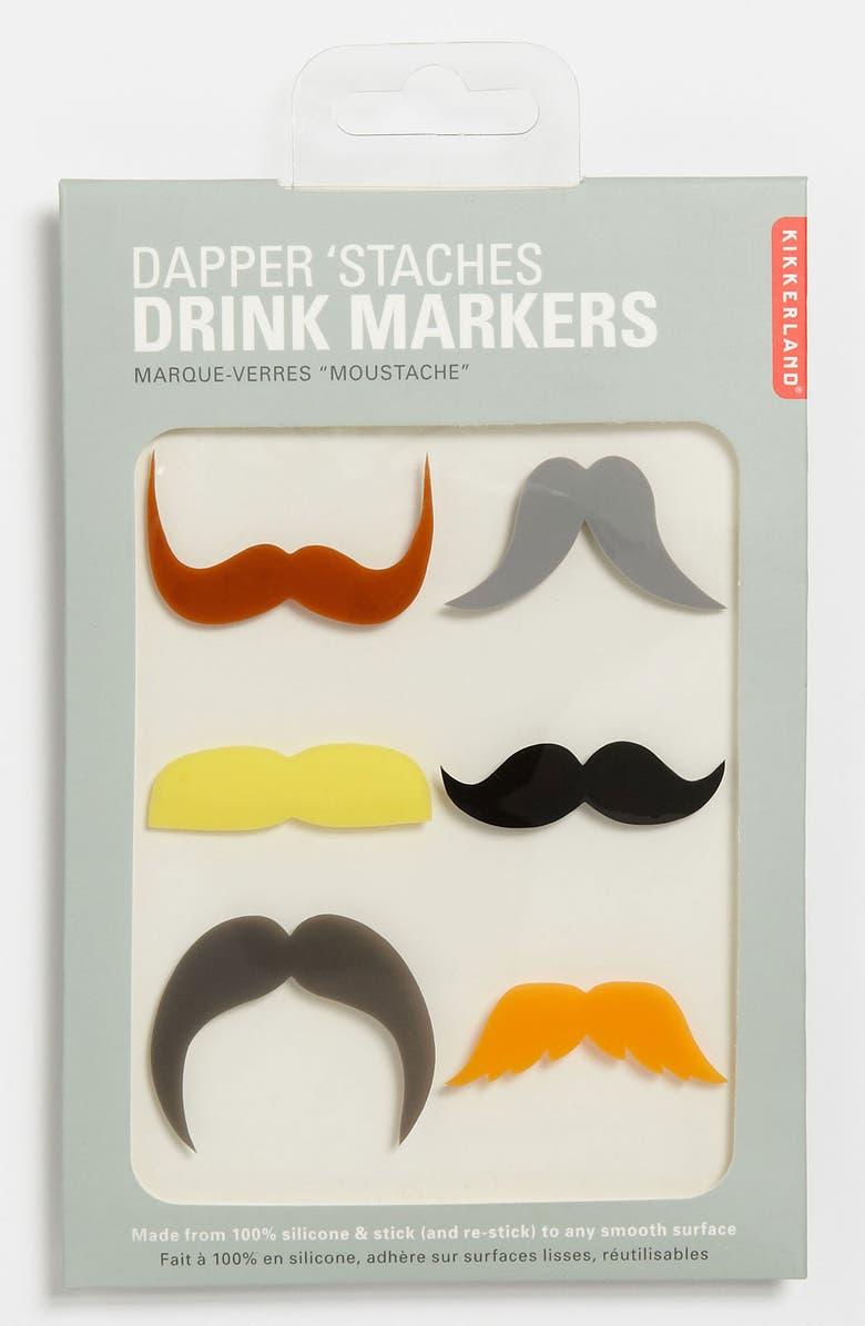 KIKKERLAND DESIGN 'Mustache' Drink Markers, Main, color, 001