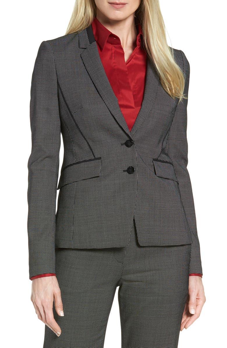 BOSS Jelisana Stretch Wool Suit Jacket, Main, color, 060