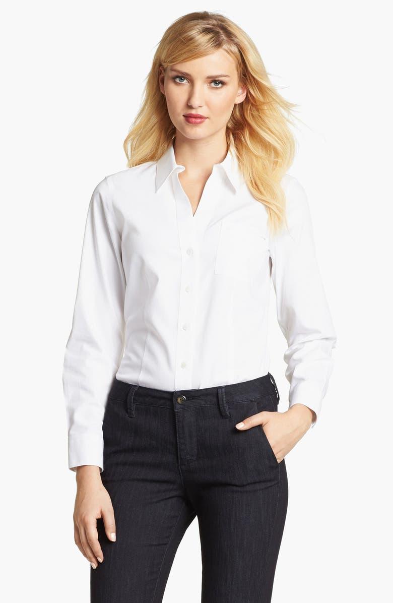 FOXCROFT Long Sleeve Shirt, Main, color, 100