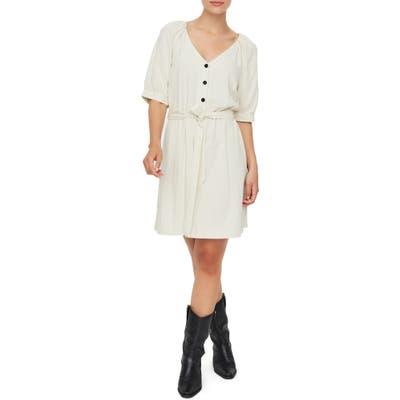 Vero Moda Day Puff Sleeve Linen Blend Minidress, Ivory