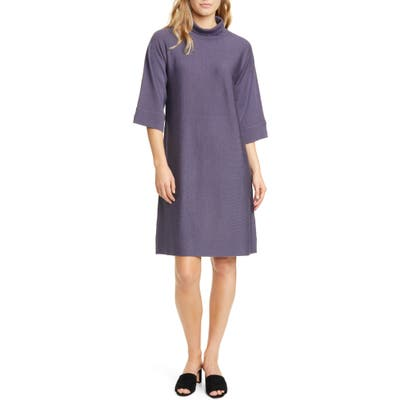 Petite Eileen Fisher Merino Wool Shift Dress, Grey