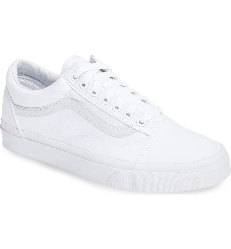 VANS 'Old Skool' Sneaker, Main, color, TRUE WHITE