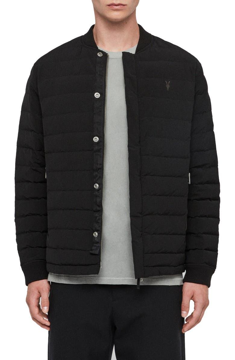 ALLSAINTS Albion Classic Bomber Jacket, Main, color, BLACK