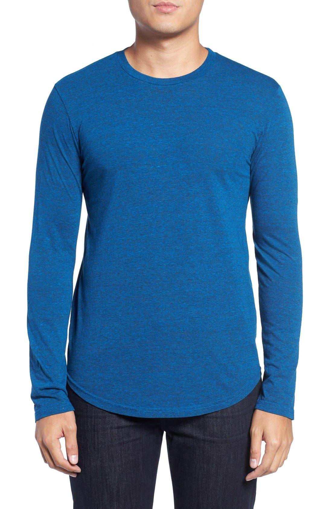 ,                             Triblend Scallop Long Sleeve Crewneck T-Shirt,                             Main thumbnail 30, color,                             420