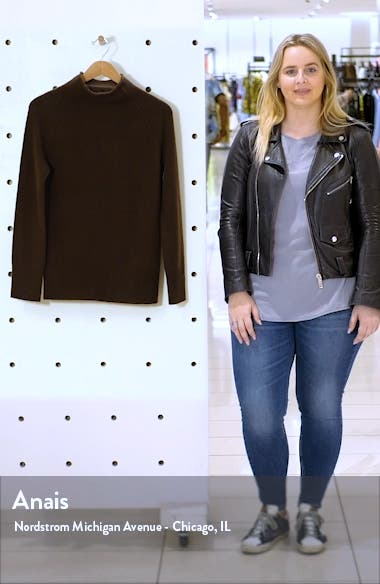 Karinello Funnel Neck Cashmere Sweater, sales video thumbnail