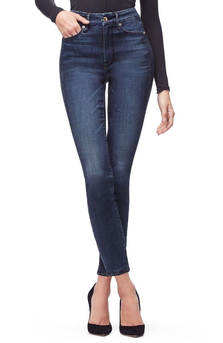 GOOD AMERICAN Good Waist High Rise Skinny Jeans, Main, color, BLUE606