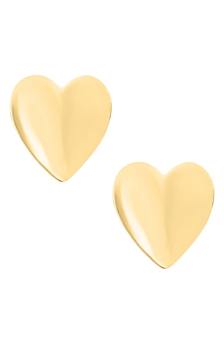 MIGNONETTE 14k Gold Heart Earrings, Main, color, GOLD