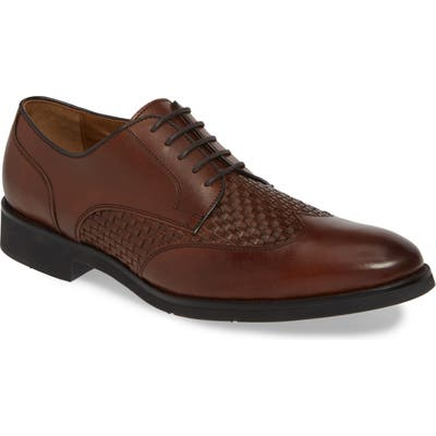 Johnston & Murphy Carlson Woven Wingtip Derby, Brown