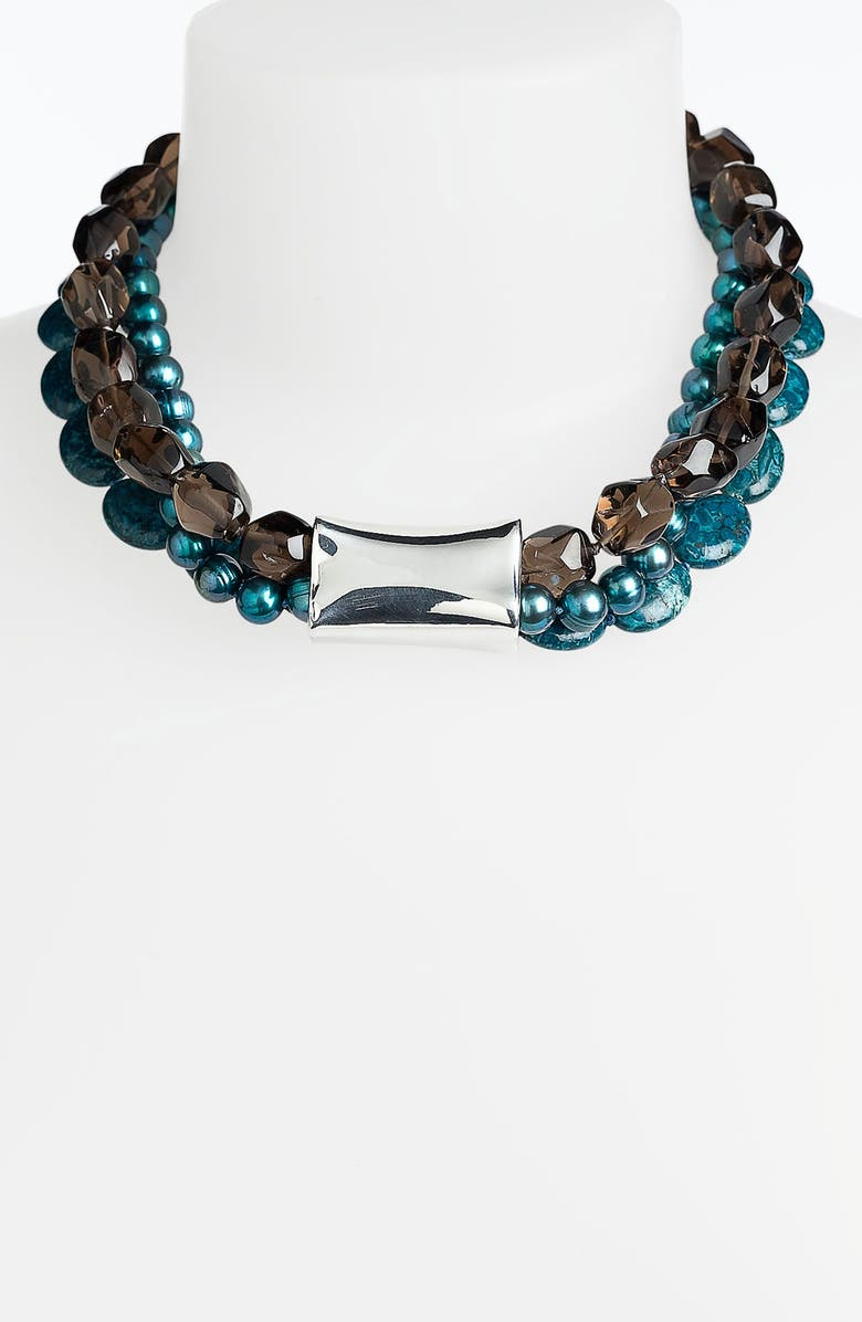 SIMON SEBBAG 'Cyan' Triple Strand Necklace, Main, color, 400