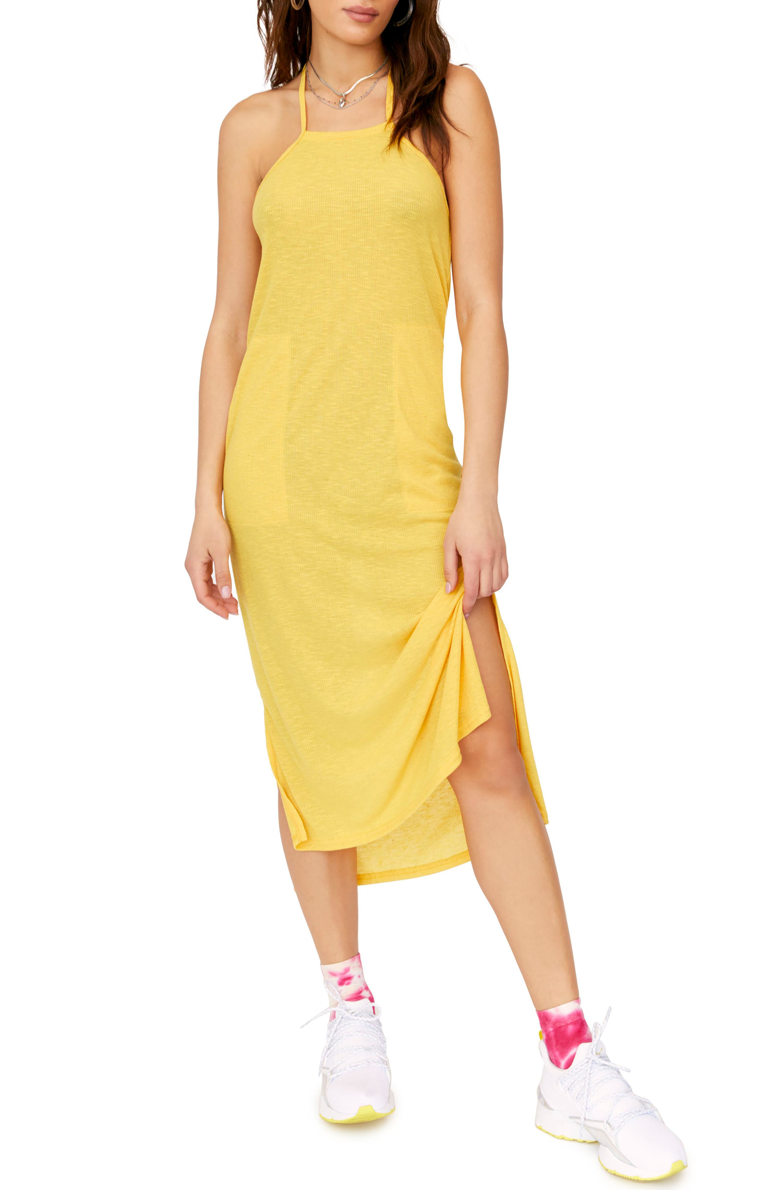 Endless Summer By Free People Orchid Sleeveless Midi Dress, Yellow