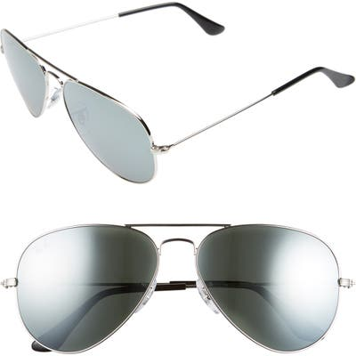 Ray-Ban Original Aviator 5m Sunglasses - Silver/ Grey Mirror