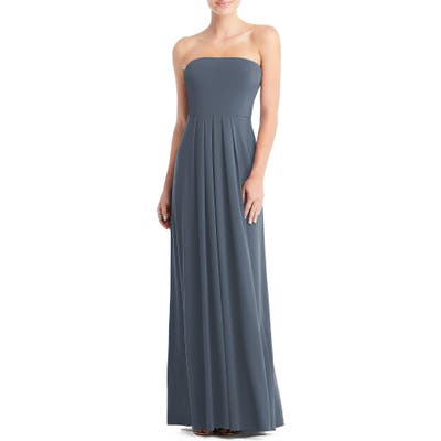 Dessy Collection Multi-Way Loop A-Line Gown, Blue