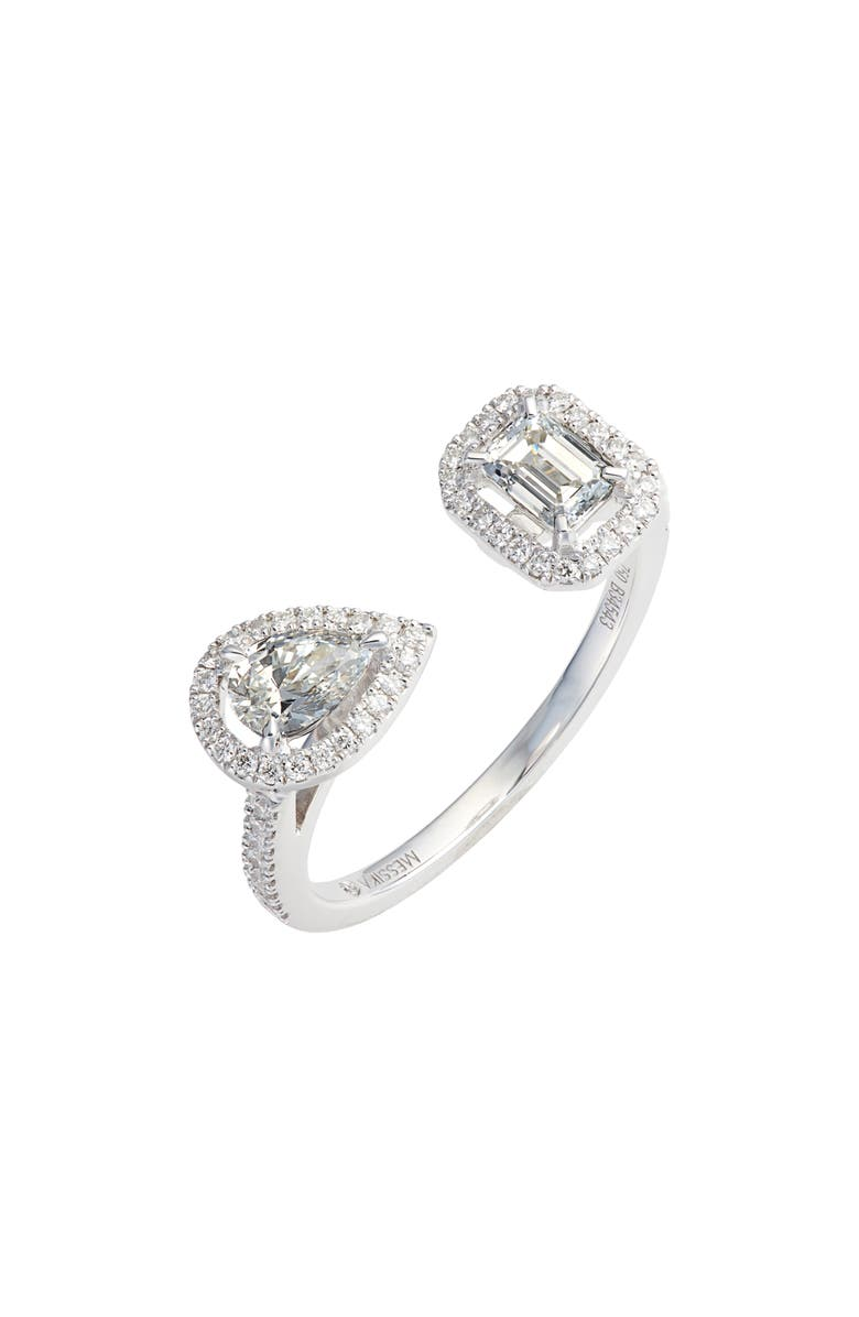 MESSIKA My Twin Diamond Ring, Main, color, WHITE GOLD