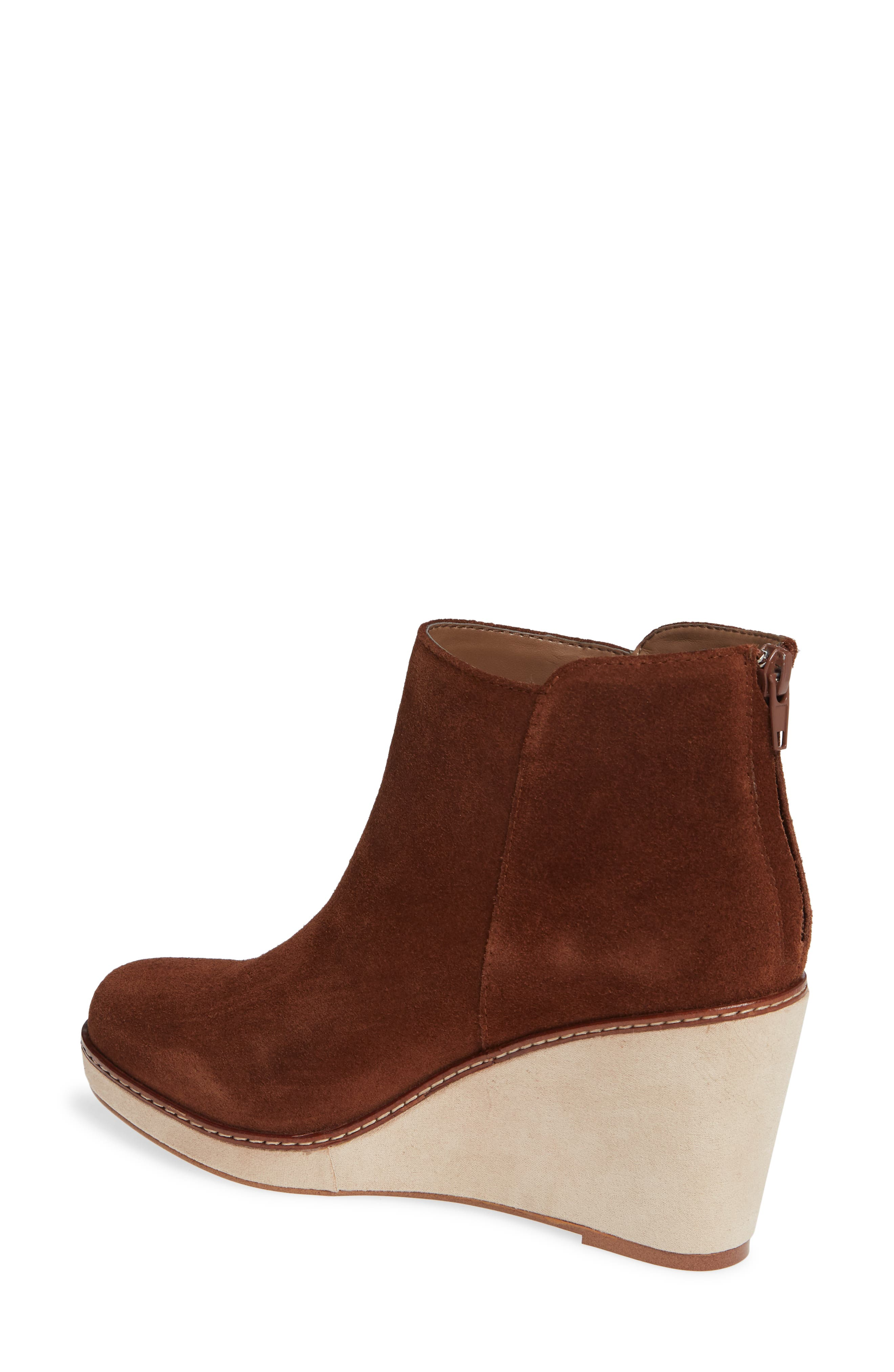 ,                             Higgins Wedge Bootie,                             Alternate thumbnail 2, color,                             WALNUT SUEDE