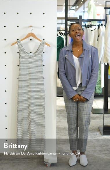Stripe Column Midi Dress, sales video thumbnail