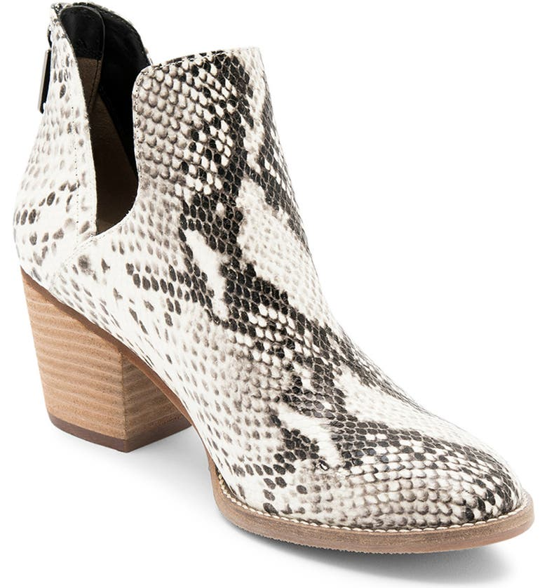 BLONDO Neda Waterproof Bootie, Main, color, NATURAL SNAKE PRINT LEATHER