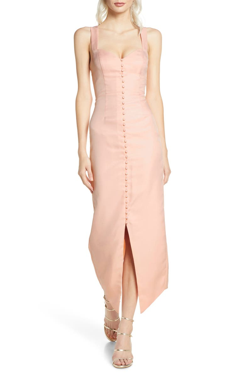 FAME AND PARTNERS The Senna Body-Con Dress, Main, color, PRIMROSE PINK