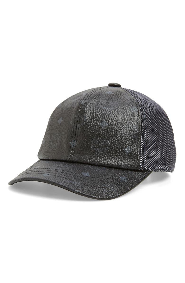 MCM Collection Mesh Back Baseball Cap, Main, color, BLACK