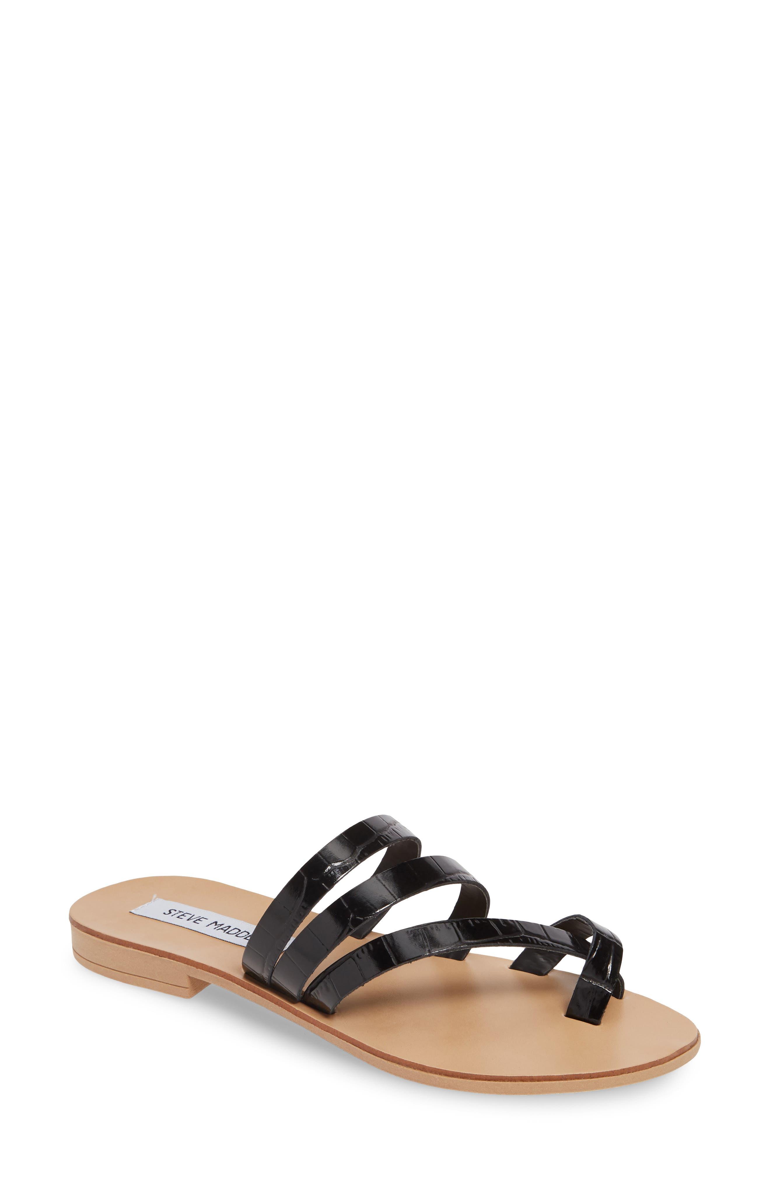 Steve Madden Ringtone Slide Sandal, Black