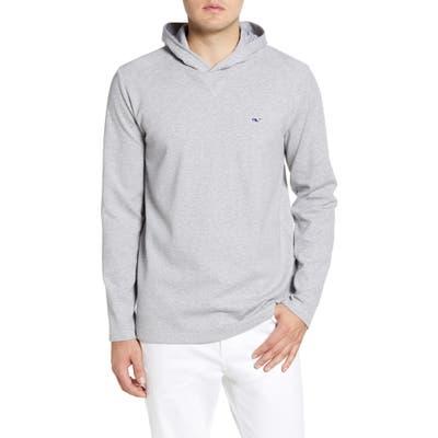 Vineyard Vines Saltwater Regular Fit Pullover Hoodie, Grey
